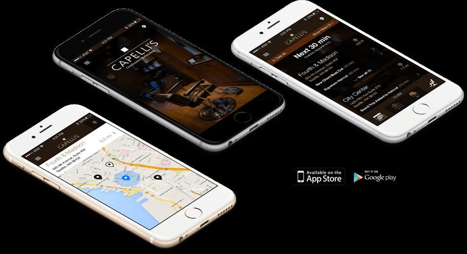 Capelli's Mobile App iOS