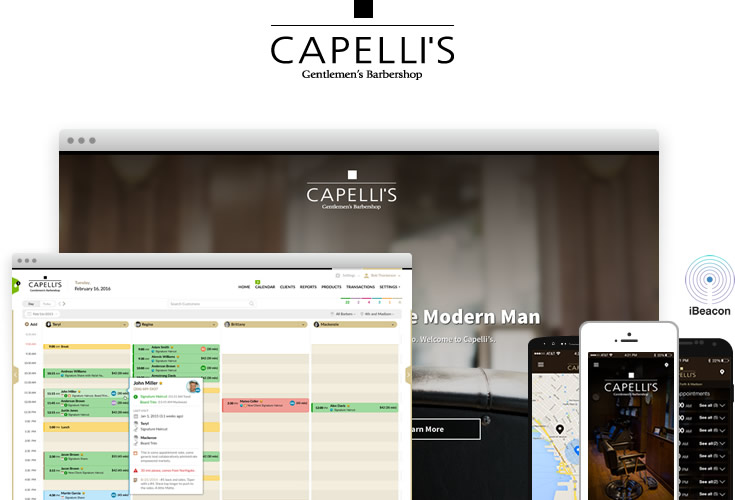 Capelli's Gentlemen's Barbershop Custom Software